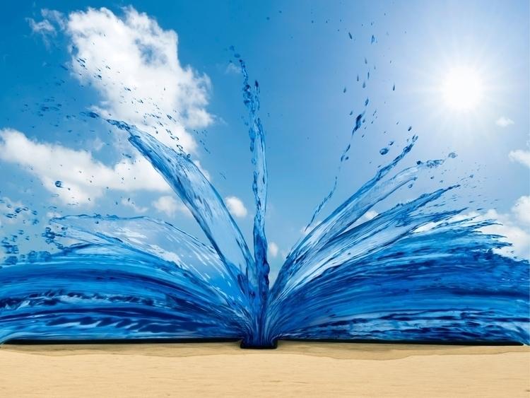 Summer Reading - ocean, beach, water - lstenton   ello