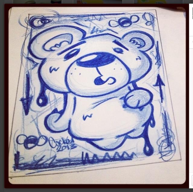 Eh - bear, cute, character, sketch - inkedsloth   ello