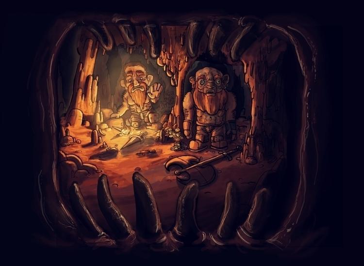 Dwarfs dig deep clutches beast  - frankiecangialosi | ello