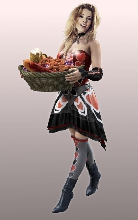 Oktoberfest Girl 01 - 3D, Modelling - vantage-9372   ello