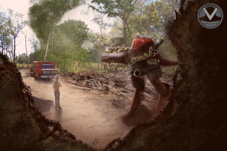 mech, conceptart, lumberjack - frankiecangialosi | ello