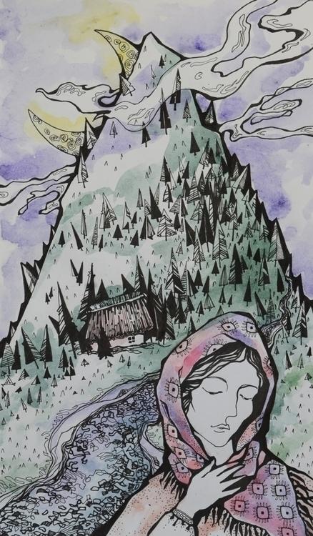 illustration, painting, drawing - odarkaluhihi   ello