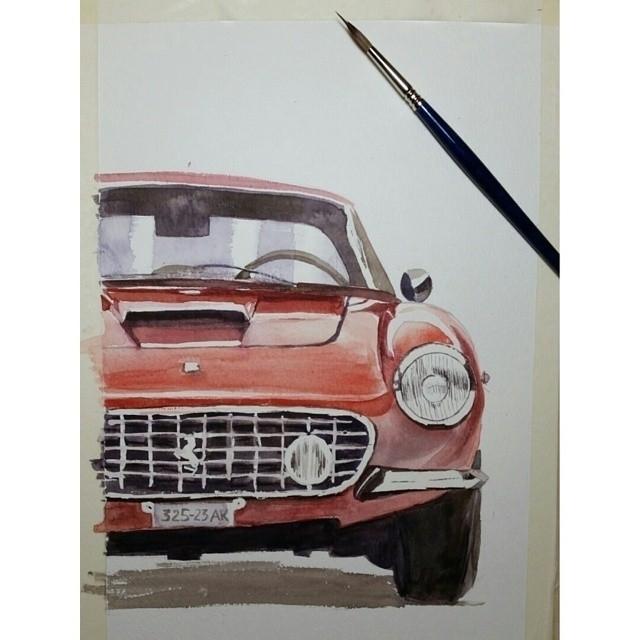 illustration car paint woth wat - artolgash | ello