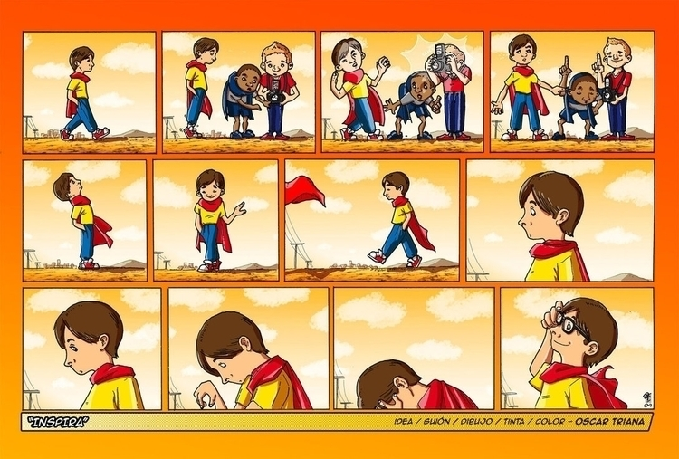Inspira - Comic homage classic  - oscartriana | ello