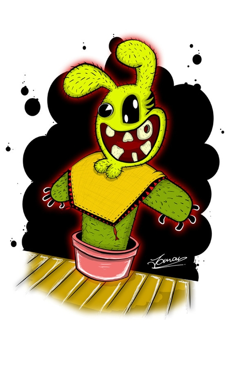 Caktie Bunny - illustration, characterdesign - juju_mahn336arts | ello