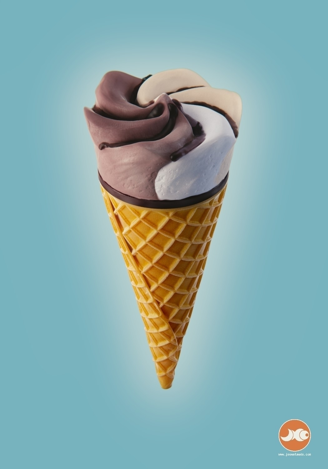 Ice cream cone - 2, icecream, foodillustration - joseolmedo | ello