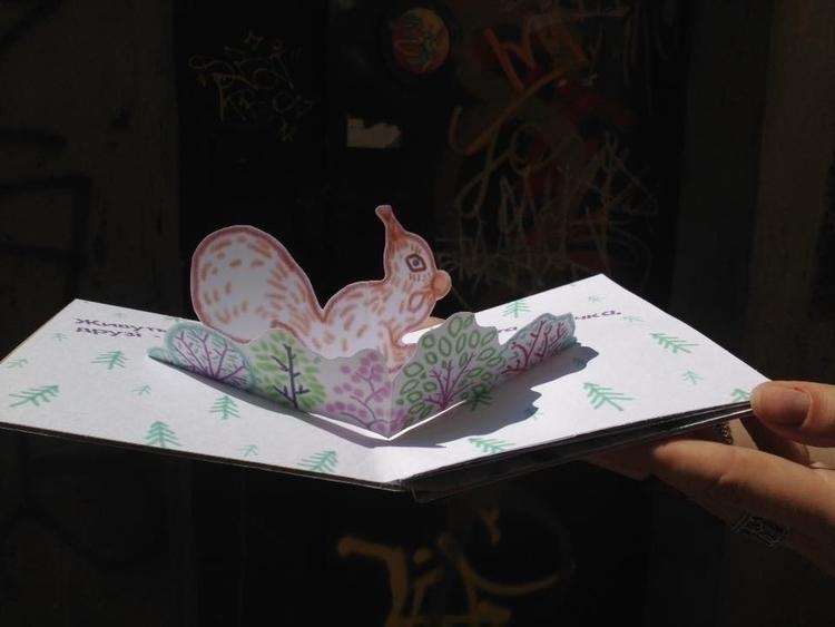 Squirell Bunny - illustration, fairytale - odarkaluhihi   ello