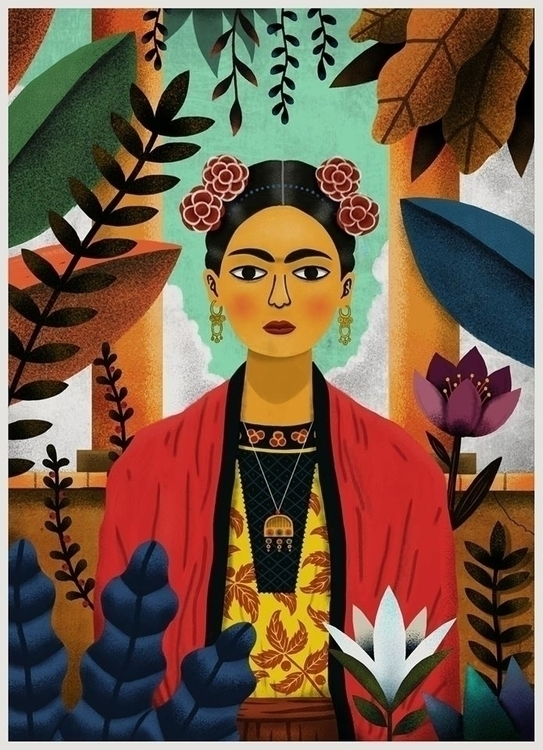 Frida Kahlo - illustration, fanart - ekoes | ello