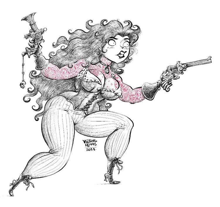 Steampunk Girl - illustration, characterdesign - victorrivas   ello
