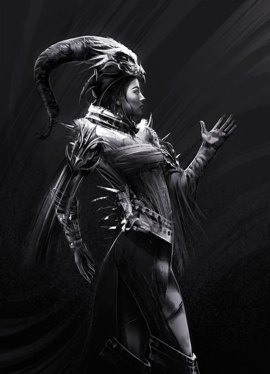 digitalart, characterdesign, warriorwoman - danielreyes-5557 | ello