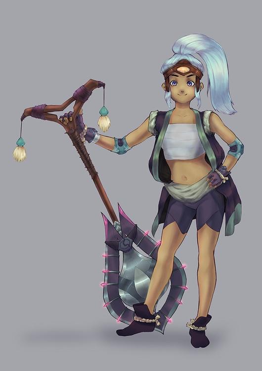 Warrior - warrior, characterdesign - gokinka | ello