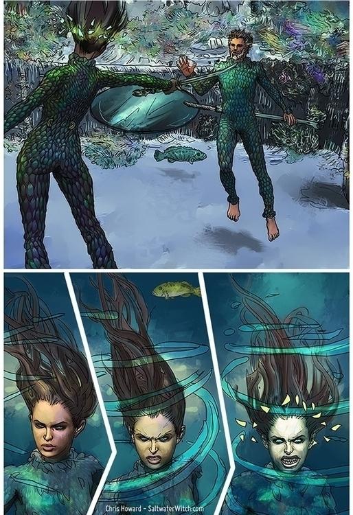 Saltwater Witch Comic - illustration - chrishoward | ello