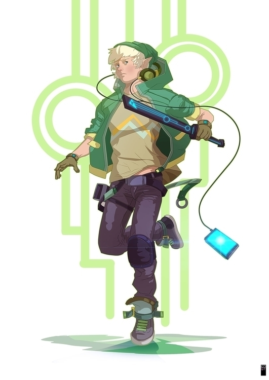 Contemporary Link [ZELDA - illustration - edgy-8315 | ello