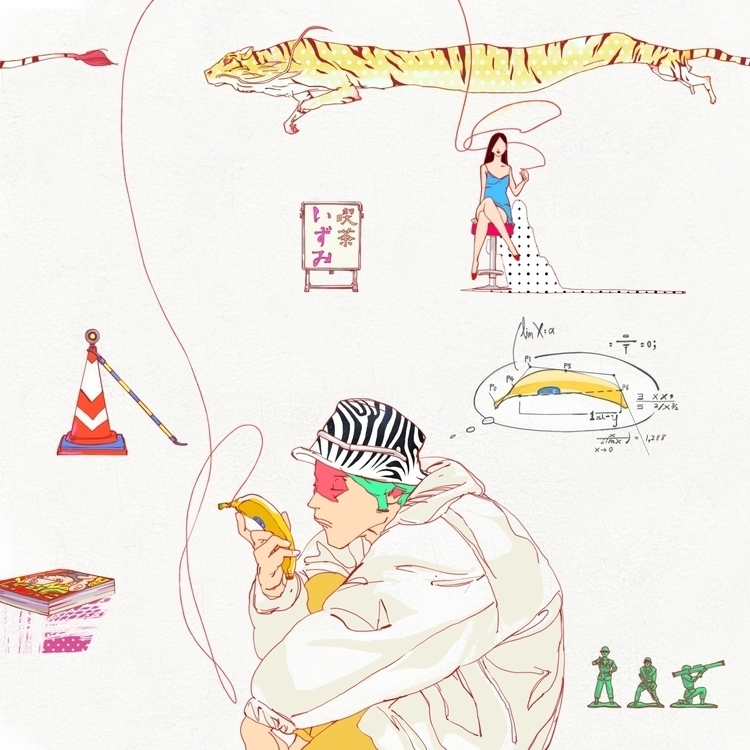 IZUMI - man, woman, banana, tiger - kasiminami | ello