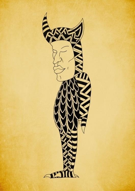 Monstere - 5, drawing, illustration - gianbautista-3099 | ello