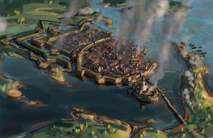 siege Vyborg 1710 - art_bat   ello