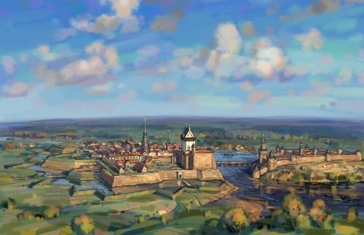 Narva Ivangorod 1700s - art_bat | ello