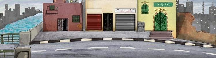 street, Rofat El-shahhed motion - mahmoudswielam | ello