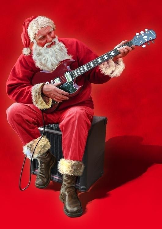 Santa Guitar - 3D, Modelling, DigitalIllustration - vantage-9372   ello