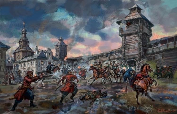 capture fortress Baturin 1708 - baturin - art_bat | ello