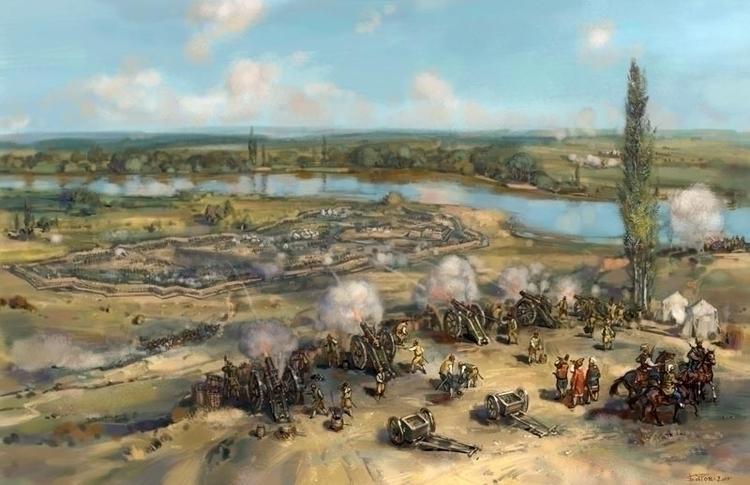 siege camp Peter Ottomans Prut  - art_bat | ello