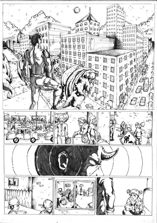 Daredevil Comic Sample Pg1 - illustration - feradami | ello