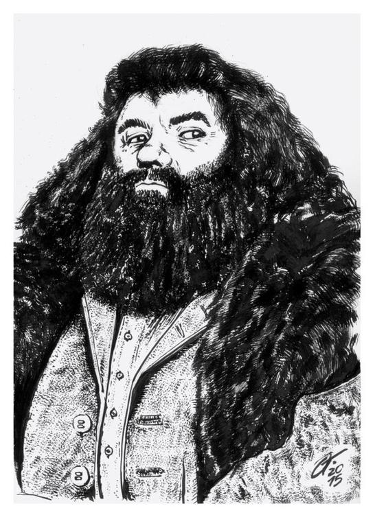 Hagrid (Traditonal Ink - hagrid - oscartriana | ello