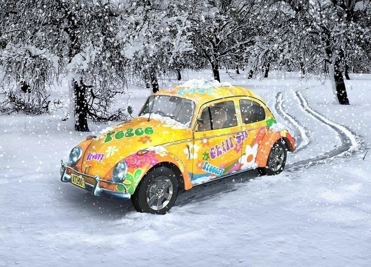 Retro Volksie | Winter 01 - 3D, Modelling - vantage-9372 | ello