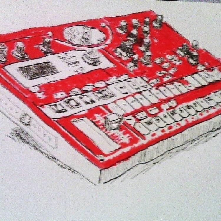 Korg electribe - illustration, korg - kleckerlabor-5193 | ello