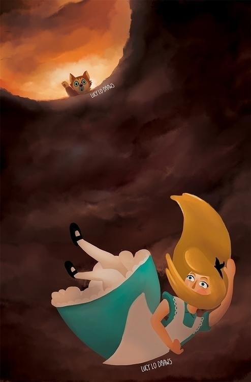 Goodbye Dinah! Alice Wonderland - lucylodraws | ello