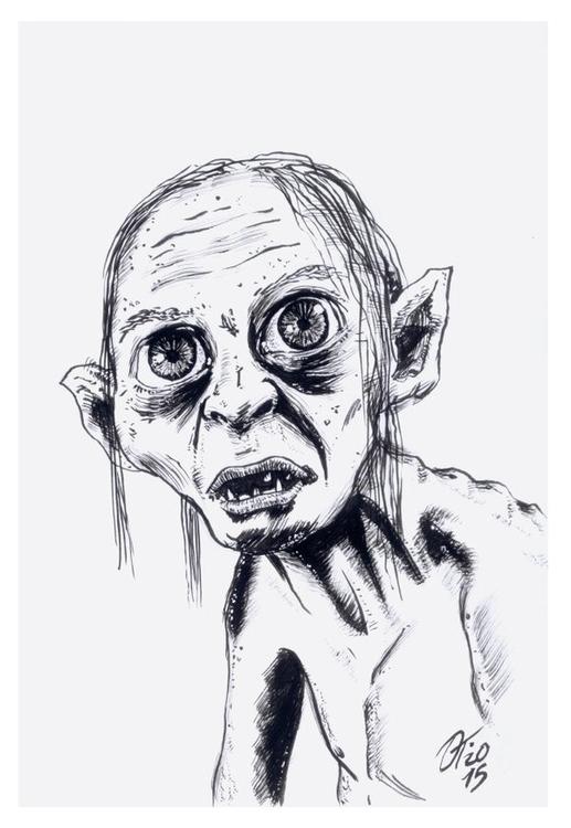 Smeagol / Gollum - Lord Rings  - oscartriana | ello
