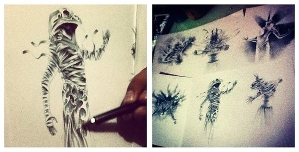 conceptart, god, pencildrawing - danielreyes-5557 | ello