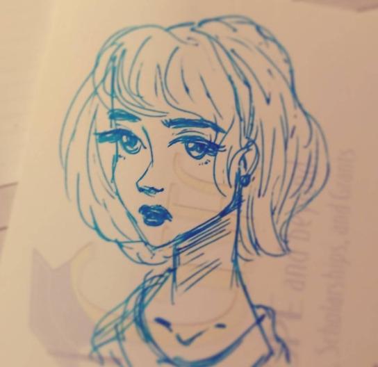 Sketch - illustration, characterdesign - feather827art | ello