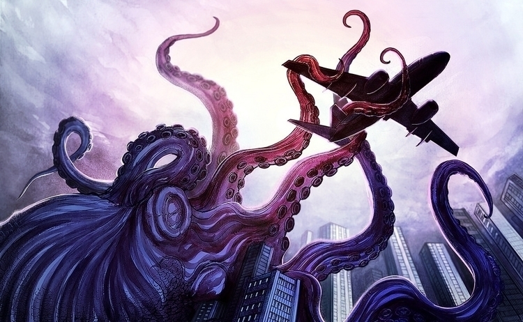 illustration, digitalart, giantoctopus - danielreyes-5557 | ello