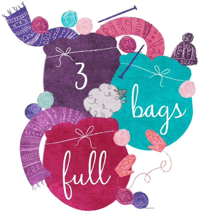 3 Bags Full woollen market logo - lisaprisk | ello