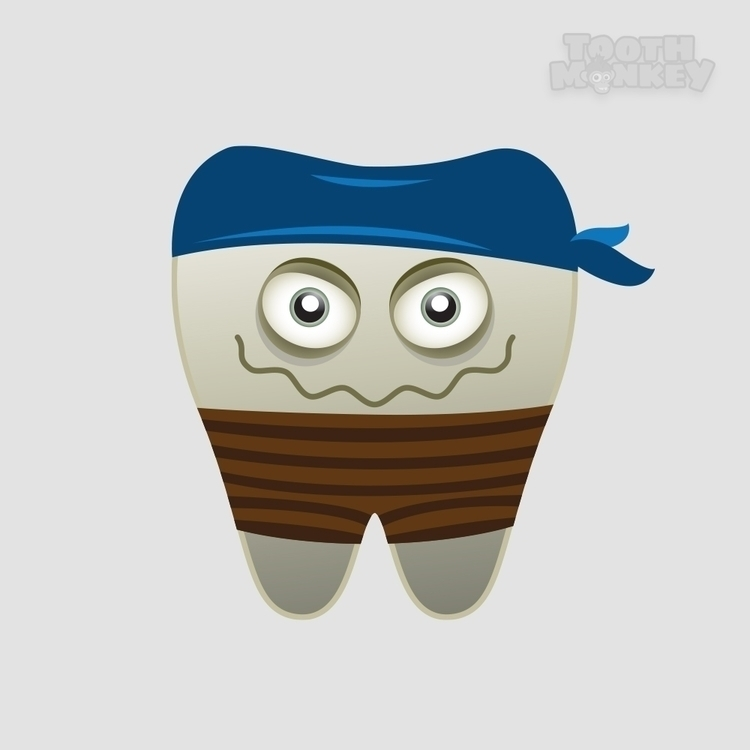 Pirate tooth illustration iOS g - felicijansedmak | ello