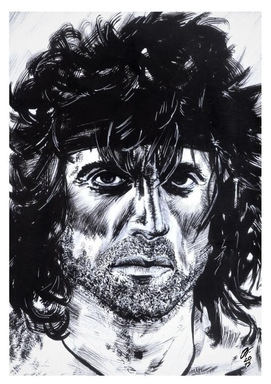 Rambo (Traditional Ink - rambo, silvesterstallone - oscartriana | ello