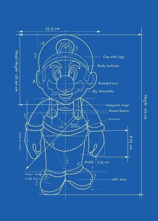 Mario Character Blueprint - VectorArt - vantage-9372 | ello