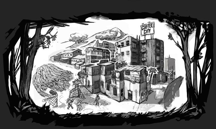 Coffee City - illustration - doghead-8689 | ello