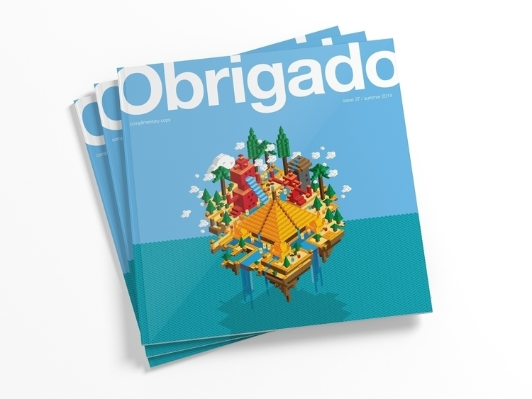 Obrigado Magazine Cover - illustration - i_am_jon | ello