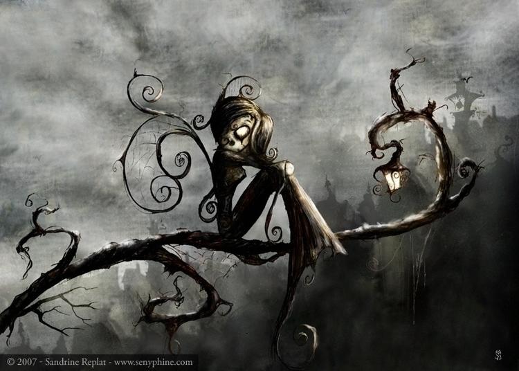 Grey - fantasyillustration, fantasycreature - senyphine | ello
