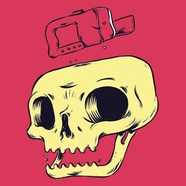 SKULL1 - illustration, illustrator - rashetti | ello