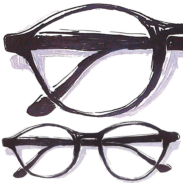 eyeglasses, illustration, sketch - gunes_ozcan | ello