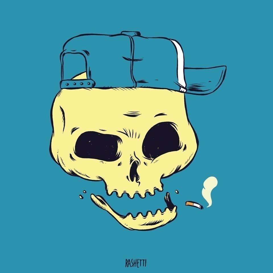 SKULL2 - illustration, illustrator - rashetti | ello