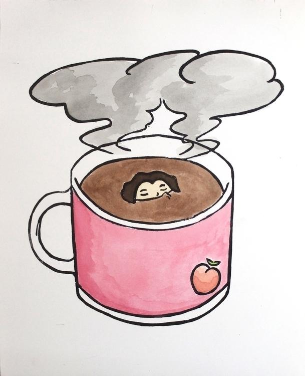 Safe Space Coffee, 2015. Linocu - emilycyr | ello