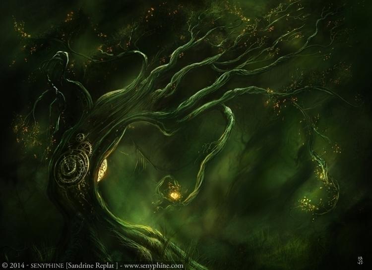 Tempus Tree - digitalart, fantasyillustration - senyphine | ello