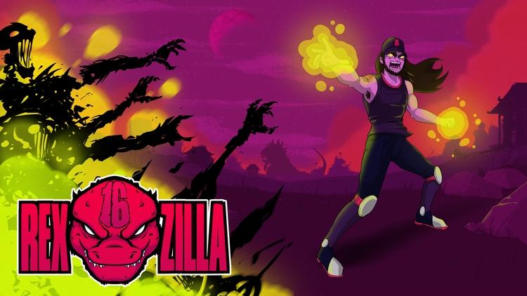 Twitch Banner Rexzilla16 - illustration - planckpixels | ello