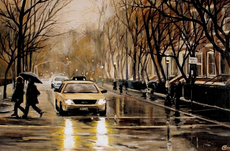 Rainy days - taxi, city, autumn - lanamarandina | ello