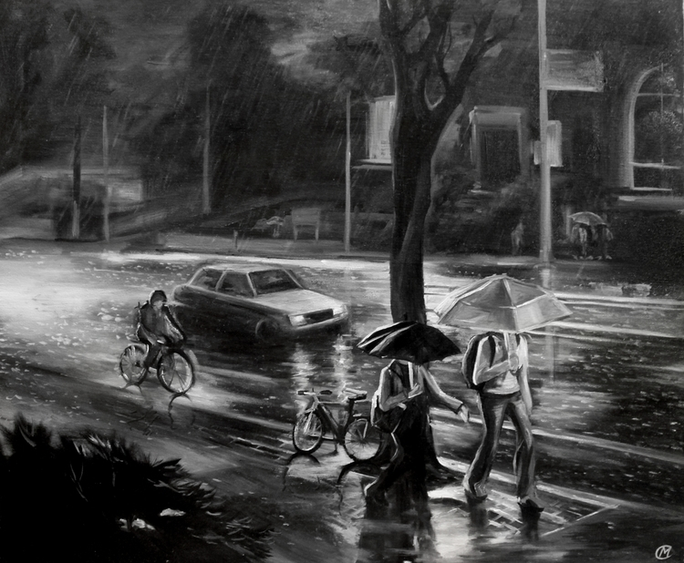 Summer rain - walking, road, rainy - lanamarandina | ello