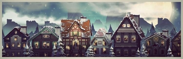 illustration, winter, environment - nen-1282 | ello